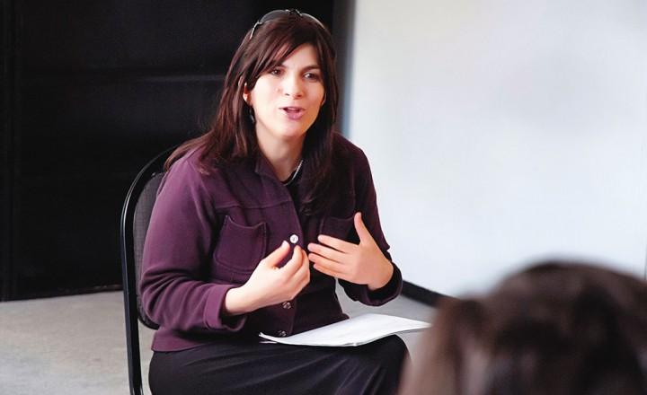 Chanie Carlebach in the classroom